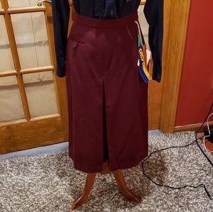 Vintage Deadstock Fall Skirt size S Wool blend